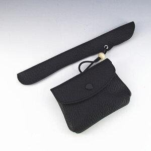 【Roland】ローランド 黒牛革製 かます(キセル 煙草入れ)シガレットケース フカシロ