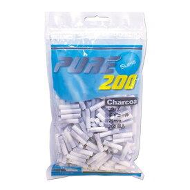 【PURE】ピュア スリム・チャコール・フィルター 手巻きタバコ用 200個入 手巻きタバコ 直径6mm 長さ25mm