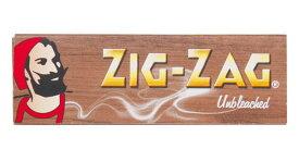 ZIG-ZAG ジグザグ 手巻きタバコ ペーパー ブラウン アンブリーチ 手巻きタバコ用 巻紙 シングルサイズ 69mm 50枚入 zigzag