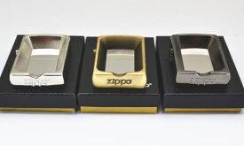 【レアもの】ZIPPO型 卓上灰皿  銀いぶし仕上げ