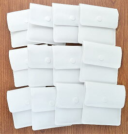 携帯灰皿 12個セット 使い捨て ボタン式 無地白 ポケット灰皿 メール便送料無料