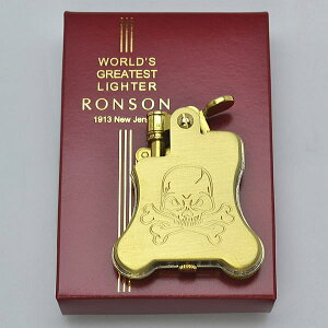 100個限定 当店オリジナル オイルライター RONSON ロンソン バンジョー スカル ドクロ R01-2016 oil lighter【送料無料】