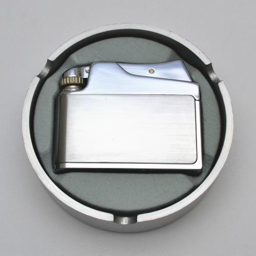 ADMIRAL アドミラル社 オイルライター アドニス型 クロームサテーナ アルミダイカスト灰皿付
