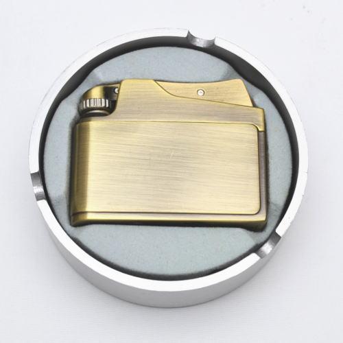 ADMIRAL アドミラル社 オイルライター アドニス型 真鍮古美 アルミダイカスト灰皿付