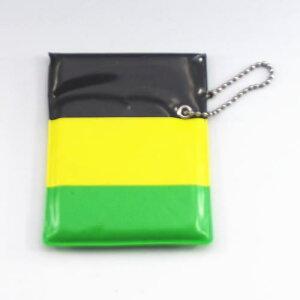 ワンハンドオープン型 プリント柄 携帯灰皿 ポケット灰皿 黒黄緑カラー柄