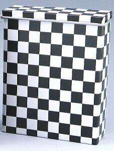 シガレットケース 85ミリ20本用 デザイン柄 キャンディー缶 チェッカー柄