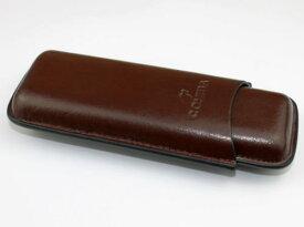 レザー シガーケース 葉巻ケース 2本用 ブラウン 革製品 cohiba