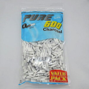 【PURE VP】徳用 ピュア スリム・チャコール・フィルター 手巻きタバコ用 600個入 手巻きタバコ 直径6mm 長さ25mm バリューパック