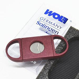 ドイツ ゾーリンゲン 葉巻用 ステンレス製 ダブルブレード レッド シガーカッター 日本たばこアイメックス ブラック JTI wolf