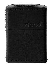 【送料無料】フカシロ アニマルレザー 牛革 5面巻き ZIPPO ROGO柄型押し ブラック zippo ジッポー 1201S507