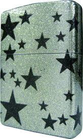 フカシロ zippo シャイニングスター シルバー仕上 5面グリッターラメ塗装加工 ジッポー 送料無料