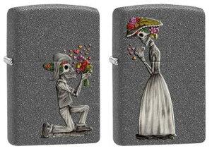 【送料無料】Death cannot stop true love. スカル ペアジッポー zippo 28987