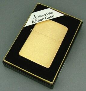 【数量限定】ARMOR(アーマーZIPPO)Brushed Brass ジッポ ブラッシュ ブラス サテーナ仕上げ #168 zippo ライター lighter ジッポー ZIPPO ジッポライター ジッポーライター