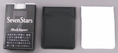 ミニタイプ モバイルアッシュトレイ 替え携帯灰皿 ミニ 黒&白 1個 ニッシンポケハイ 携帯灰皿
