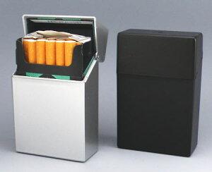 ペンギンライター社製 ハードケース プラスチック シガレットケース ハードタイプ 85ミリ用 シルバーと黒の2個セット(各1個)タバコケース