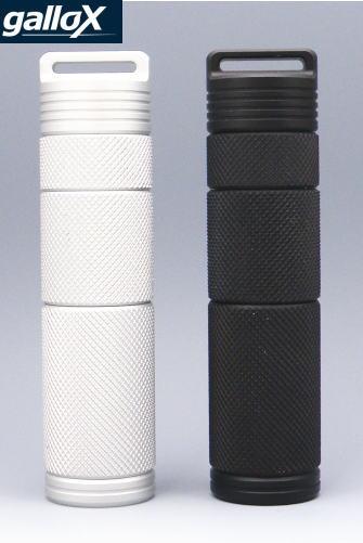 gallox 携帯灰皿 ギャロックス アルミニウム 高精度NC切削 シリンダー型 ギフトBOX入