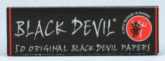 Black devil paper single hand for cigarette rolling papers 69 mm 50 sheets input