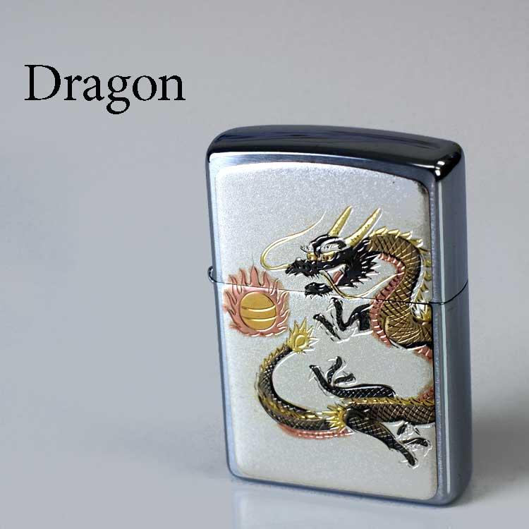 ドラゴン ZIPPO たばこ ライターシルバー 和柄 龍 タバコ ブランド