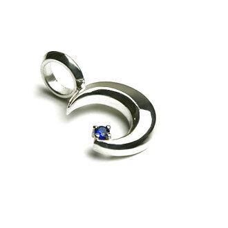Bluemoonsilverpendan / 藍色尖晶石 / 銀日本手工製造的配件男裝項鍊總和總和模式
