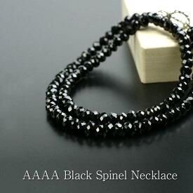 ブラックスピネル AAAA ネックレス メンズ 6mm ジュエリー プレゼント ギフト