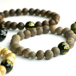 木の種類が選べる梵字数珠ブレスレット数珠ブレスレット木製メンズアクセサリーブレスレット黒ウッドブラック木天然石オニキス