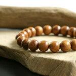 バイヨンウッド10mm数珠ブレスレット木製メンズアクセサリー茶色ウッドブラウンシンプル