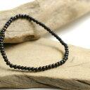 黒檀 エボニー 3mm 数珠 ブレスレット 木製 メンズ アクセサリー 黒 ウッド ブラック 黒色 シンプル