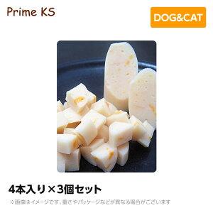 プライムケイズ 無薬鶏ささみチーズ 4本入り×3個セットおやつ 犬猫 国産 無添加