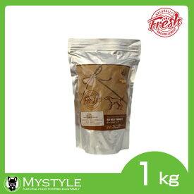 ナチュラリー フレッシュ ポーク&ビーフ 1kg フレッシュドライフード 犬 ドッグフード(ペットフード 犬用品)