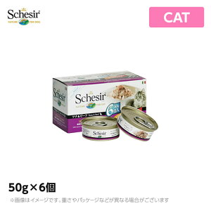 Schesir シシア キャット ツナ&ビーフ 50g×6個 猫缶 ウェットフード無添加 無着色 プレミアムミート(シシア 猫 キャットフード 缶詰 ペットフード ウエットフード 猫用品)