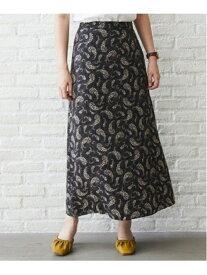 【SALE/40%OFF】フラワーペイズリーSK mysty woman ミスティウーマン スカート ロングスカート ブラック ブラウン【RBA_E】[Rakuten Fashion]