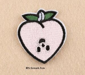 送料全国一律190円桃 もも 果物 ワッペン アップリケ アイロン対応 刺繍 キルト 手芸材料