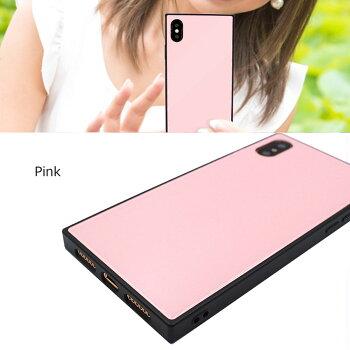 iPhone8iPhoneXケース鏡面スマホケーススクエアミラーケースハードケースiPhone7大理石かわいいおしゃれ