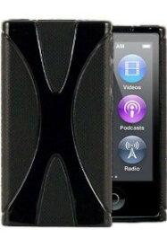 iPod nano 7 デザイン カバー ケース TPU Jelly X Design Case 軽量 アイポッドナノ 第7世代 iPod nano 7th フィルム 黒【送料無料】ポイント消化