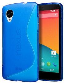 Google Nexus 5 TPU デザイン カバー ケース スマホケース ネクサス5 LG-D820 対応 薄型 軽量ソフトモデル 耐衝撃 Design Cover Case 全6種類 Design S Blue 青【送料無料】ポイント消化