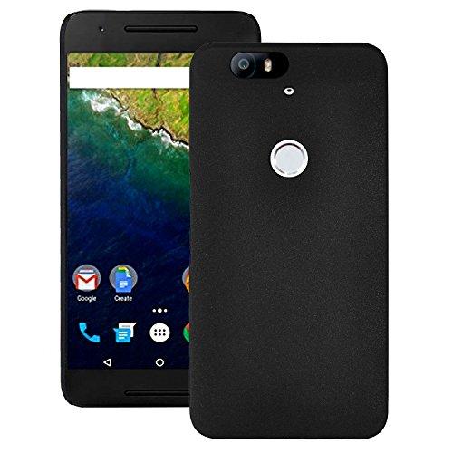 Google Nexus6P ケース PC ハード スマホケース Softbank Nexus 6P ネクサス 6ピー SIMフリー 5.7インチ Cover Case 薄型 軽量 スリム フィット デザイン + 液晶 保護 フィルム ブラック 黒 2点セット【全品送料無料】ポイントup