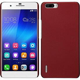 Huawei honor6 Plus ケース スマホケース 薄型 軽量 18g 楽天モバイル 5.5インチ スマホ honor 6 ファーウェイ SIMフリー 対応 スリムフィット PCハードカバーRed 赤【送料無料】ポイント消化