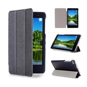 Huawei MediaPad T1 7.0 タブレットケース ファーウェイ 7インチ SIMフリー タブレット T1-701w 対応 フラップマグネット開閉式 シンプル 薄型 軽量 三つ折り スタンド おすすめ 人気 シンプル 黒【送