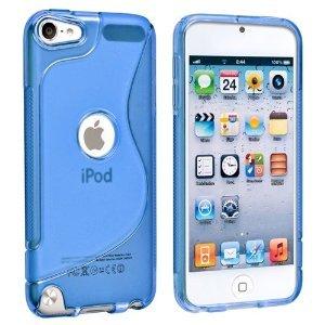iPod touch 5 ケース アウトドア スタイル アイポッドタッチ 第5世代 iPod 5th TPU ロゴカット デザイン 液晶 保護 フィルム 青【new_d19】楽天 ポイント15倍