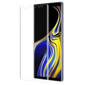 Galaxy Note9 フィルム 新素材 TPU 全面 保護 スマホフィルム 耐衝撃 ギャラクシー docomo SC-01L au SCV40 エッジまで覆える フルタイプ 3D Curved HD 曲面 デザイン クリア 2枚セット/ 送料無料 マラソン sale