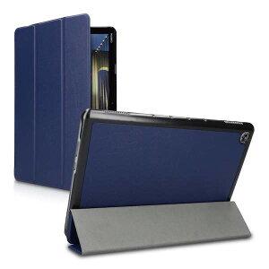 Huawei MediaPad M5 Lite 10 ケース タブレット 薄型 軽量 スタンド オートスリープ カバー レザー PC ハード 紺【送料無料】ポイント消化