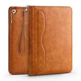 iPad 9.7 ビジネス ケース iPad Air/iPad Air2 対応 出張や持ち運びに便利なカバー ストラップ付属 茶【送料無料】ポイント消化