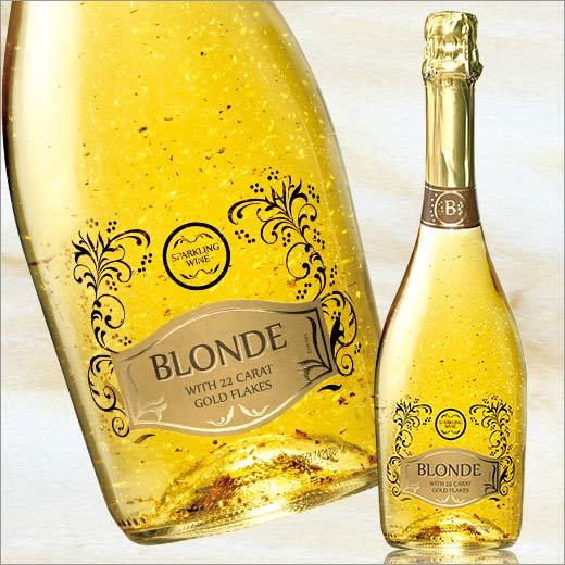 豪華金箔入りスパークリング!ブロンド・22カラット・ゴールド・フレークス[スパークリングワイン][ワイン][白:中辛口:発泡] 【7772111】