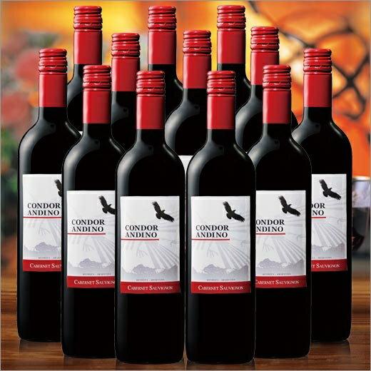 【送料無料】コンドール・アンディーノ・カベルネ・ソーヴィニヨン12本セット [赤ワイン][ワインセット][赤:フルボディ] 【7777381】