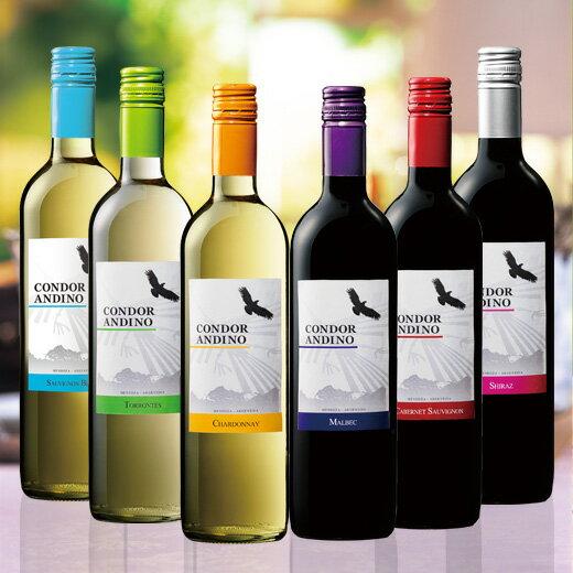 コンドール・アンディーノ赤白飲み比べ6本セット [赤ワイン][白ワイン][赤:フルボディ][白:辛口] 【7779786】