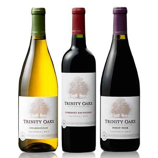 トリニティー・オーク品種飲み比べ3本セット[赤ワイン][白ワイン][ワインセット][赤:フルボディ][白:辛口]【7785962】