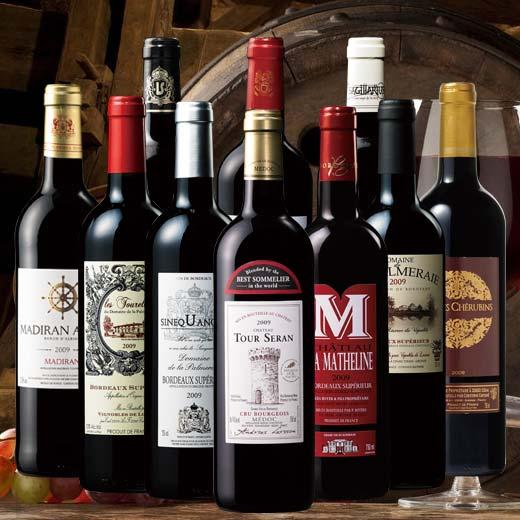 【送料無料】クリュ・ブルジョワ&金賞ワイン入り!2009年赤10本セット [赤ワイン][赤:フルボディ][ワインセット]【7780026】