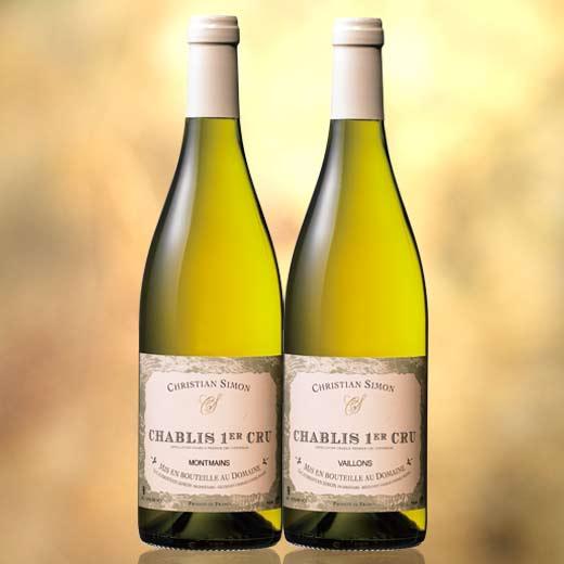 【送料無料】シャブリ1級畑飲み比べ2本セット 第3弾 [白ワイン][白:辛口][ワインセット]【7781229】