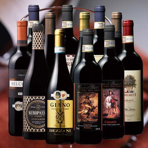 【送料無料】キャンティ&イタリア金賞赤ワイン12本セット [赤ワイン][赤:フルボディ][ワインセット]【7781243】