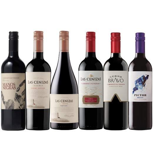 チリ品種飲み比べ赤ワイン6本セット [赤ワイン] [ワインセット]【7786364】